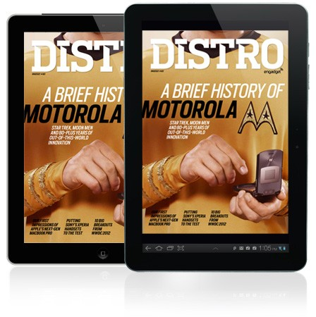 Distro Issue 45 a brief history of Motorola and WWDC 2012's top stories