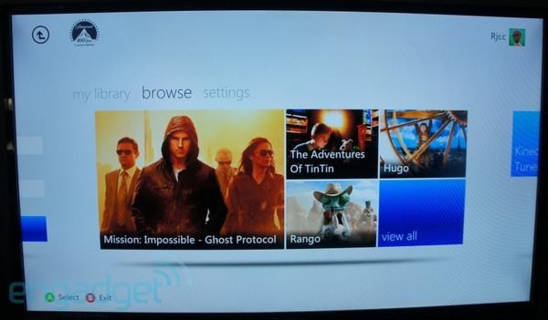 20120612 19170029  xboxpara Paramount Movies Ultraviolet app released for Xbox 360