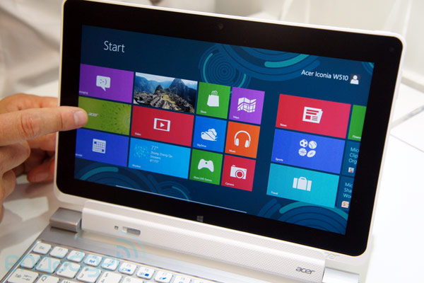 Acer unveils 116inch Iconia W700, 101inch W510 Windows 8 tablets