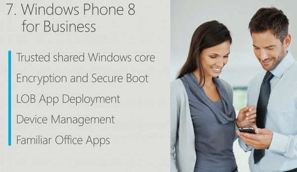 MS details Windows Phone 8 enterprise features encryption, secure boot, IT management
