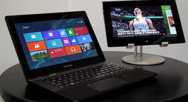Toshiba's Windows 8 RT laptop gets demoed by TI