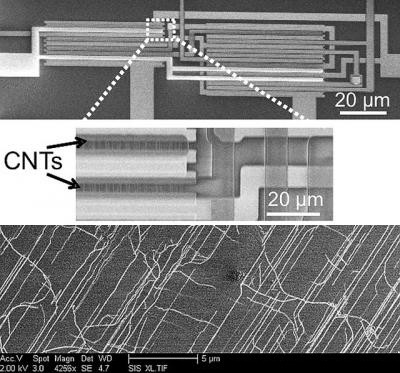 photo image Stanford engineers find work around for barriers to carbon nanotube computers