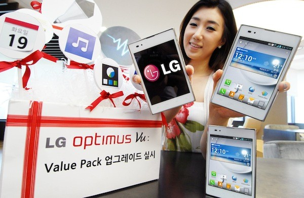 LG Optimus Vu 'Value Pack' Ice Cream Sandwich upgrade rolling out in Korea