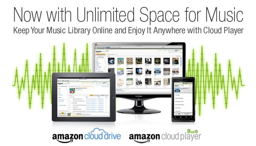 Amazon Cloud Player, Unlimited Music Space, Amazon Music Library, Amazon Store, Buy Amazon