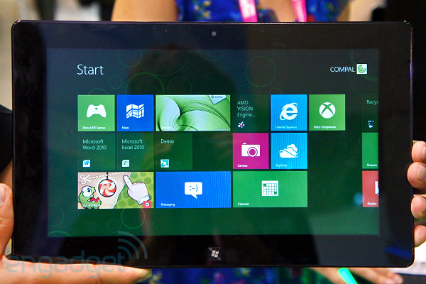AMD shows off its first Windows 8 concept tablet, we go handson video