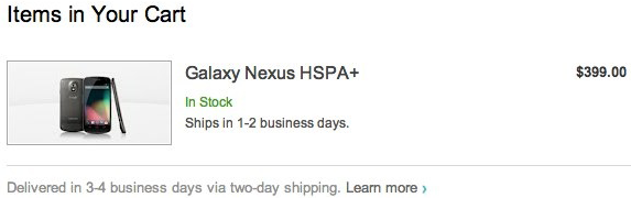Android Jelly Bean revealed as version 41 on Galaxy Nexus checkout page