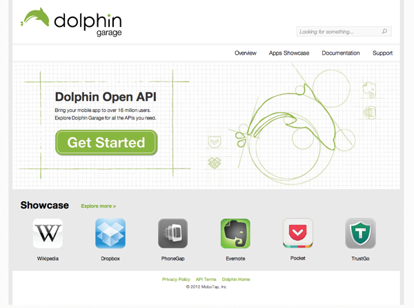 Dolphin unveils Garage, API access for add-ons and web apps