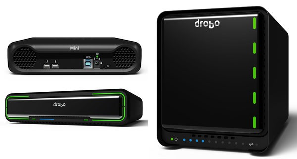 Drobo debuts a duo of Thunderbolt drives the 5D for desktops and the Mini for road warriors