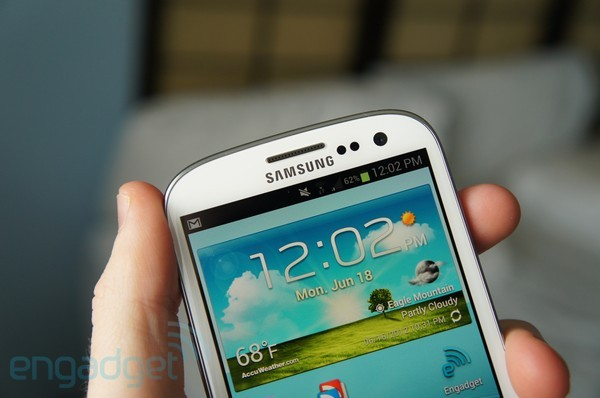 Galaxy S III Sprint - top half