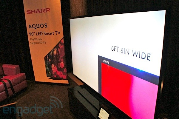 Sharp launches 'world's largest' 90-inch LED AQUOS TV, we go hands-on