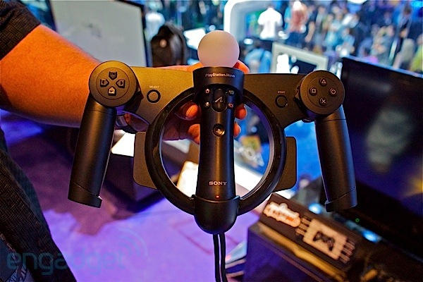 Sony Playstation Move Racing Wheel handson