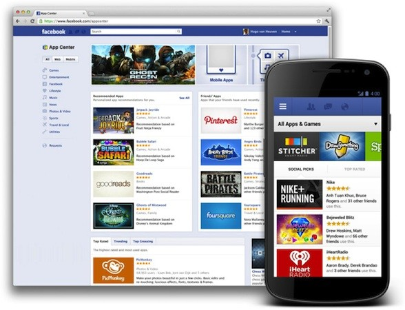 Facebook App Center launches tonight on Android and iOS with access to over 600 apps