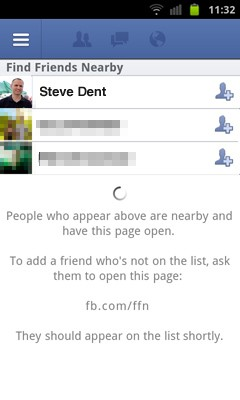 Facebook's Find Friends Nearby  GPS lets you give nearby mobile users a Friendshake