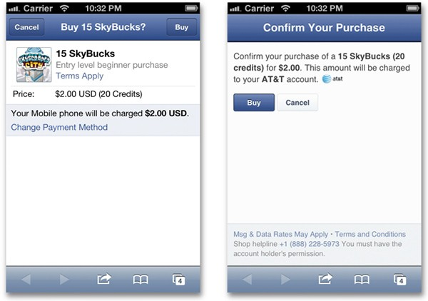 Facebook smooths the way for carrier billing on inapp purchases