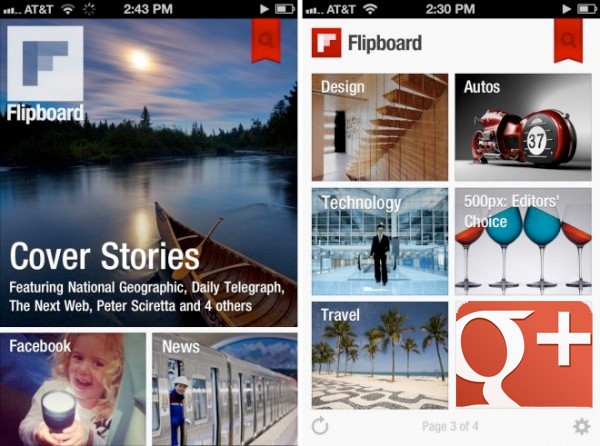 Google API brings streams to Flipboard, 