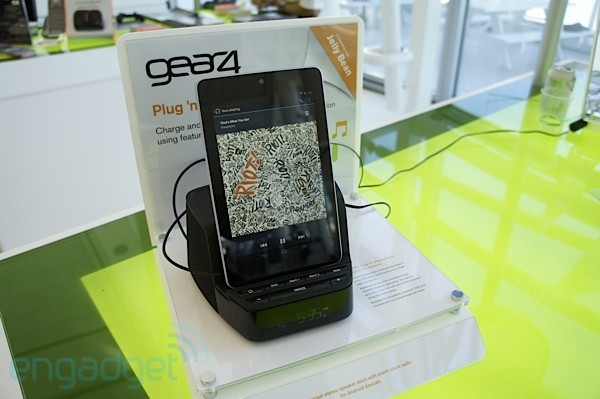 Gear4 speaker dock supports USB audio for Jelly Bean at Google I/O 2012