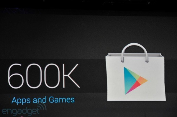 Google Play hits 600,000 apps, 20 billion total installs