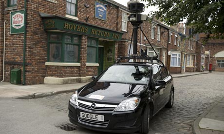google street view car on 001 Google Street Views WiFi snooping triggers renewed scrutiny in the UK