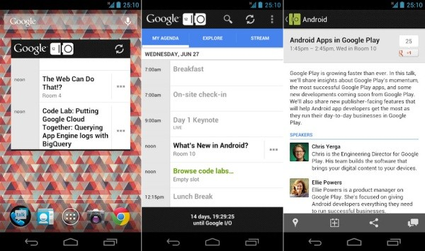 Google IO 2012 app unveiled for Android, keeps attendees and outsiders looped in
