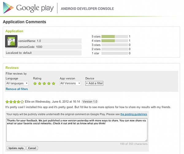 Google Play lets top devs reply to user reviews, smackdown trolls