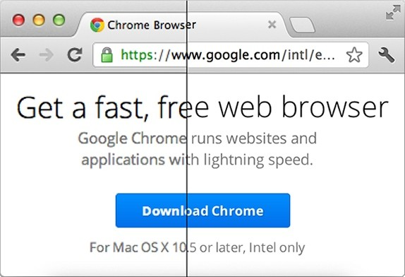Google Chrome Retina Display