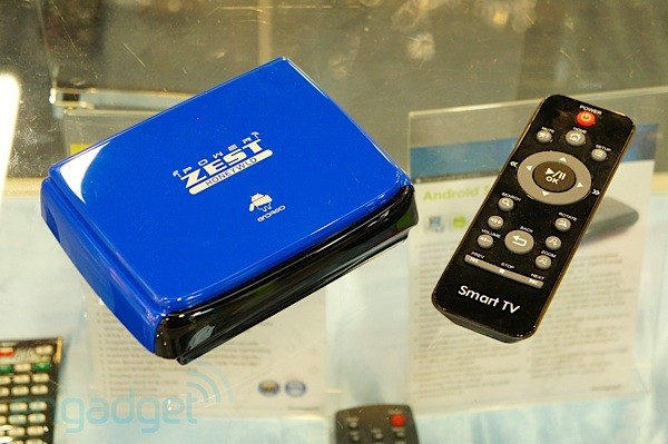 Handson with the Honeywld Power Zest ICS set-top box at Computex 2012