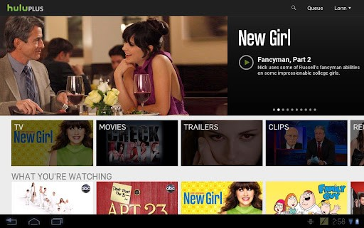 Hulu Plus Android app tweaked for 7inch, high res screens, officially supports more devices