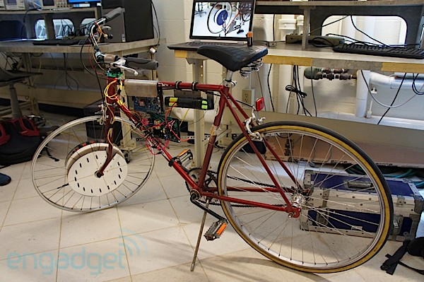 HyCycle electricity generating bike