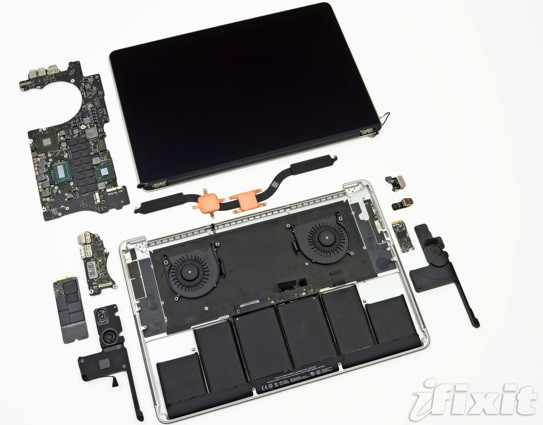 iFixit tears the MacBook Pro with Retina Display to pieces, 