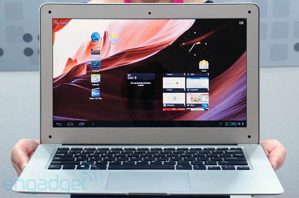 MacBook Air wannabe runs Android 4.0
