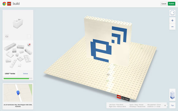 Lego and Google Chrome teamup, want to cover Australasia in models and plastic bricks