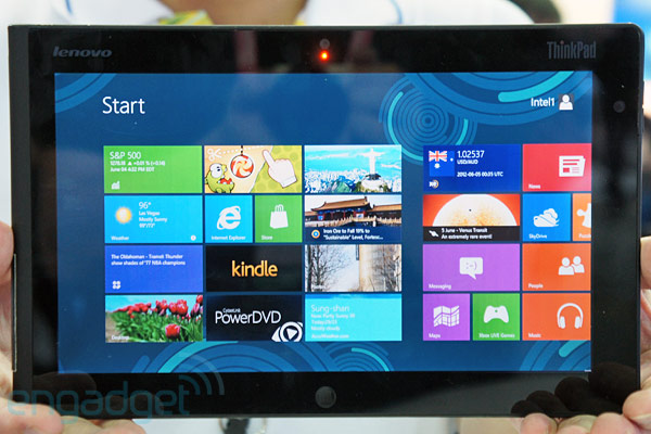Lenovo showcases Windows 8 ThinkPad tablet
