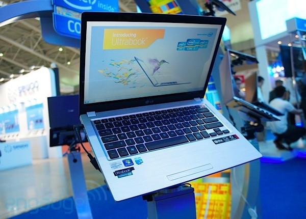 Spotted at Computex LG's X Note Z350 Ultrabook handson