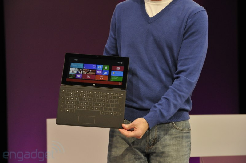 Microsoft one ups that other tablet cover with a keyboard and touchpad