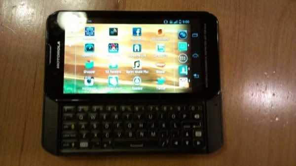New Motorola slider with Android 40 surfaces with Sprint clues, many mysteries
