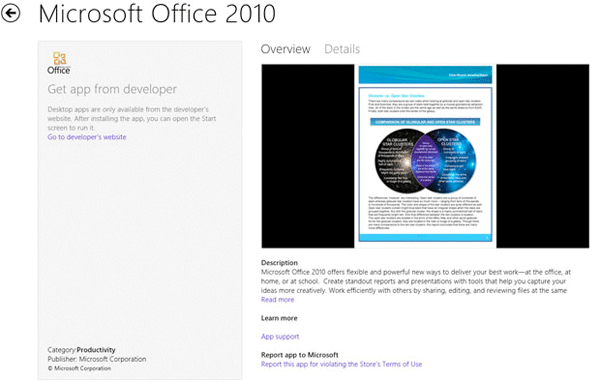 Microsoft Office becomes first nonMetro application within Windows Store