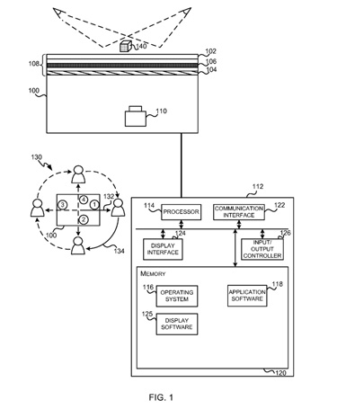 Microsoft patent application could make a tabletop surface that caters to the eye of the beholder