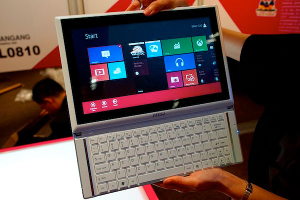 MSI unwraps Slider S20 hybrid tablet with Windows 8 handson