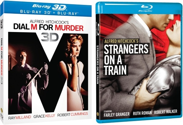 Hitchcock classics Dial M for Murder (3D) and Strangers on a Train come to Blu-ray October 9th