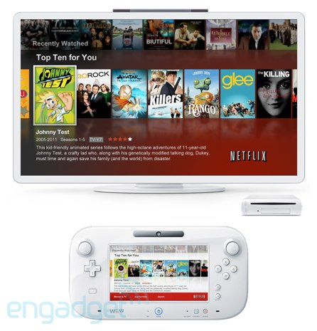 Netflix app for Nintendo's Wii U, pictured