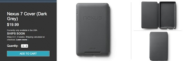 Google's Nexus 7 cover turns on the Play store, will set you back $20