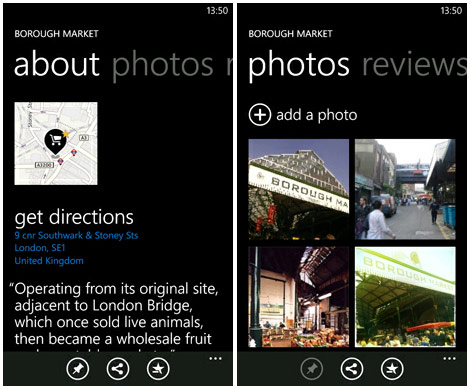 Nokia Maps for Windows Phone makeover brings friends' photos and reviews, favorites syncing