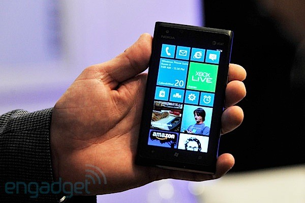 Visualized Nokia Lumia 900 running Windows Phone 78