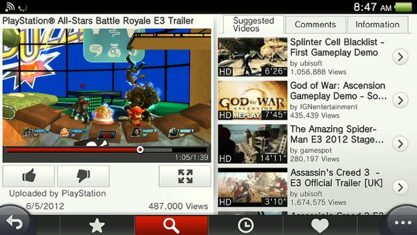 YouTube for PS Vita goes live, will help you watch games more than play them
