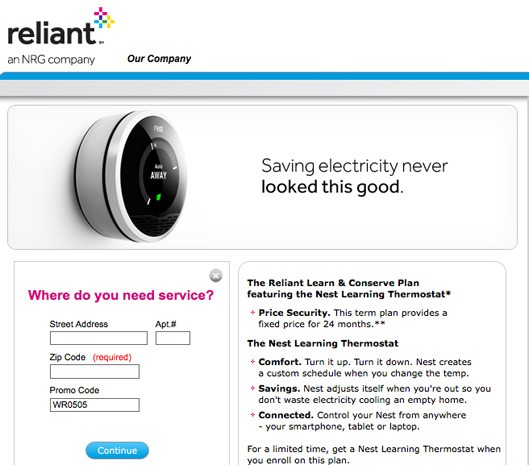 Nest partners with Texas utility company, offers intelligent thermostat to energyconscious households