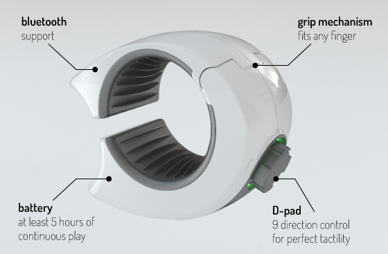 Ringbow hits Kickstarter, promises D-pad-assisted touch gaming