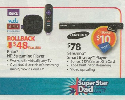 Walmart ad hints at Vudu streaming on Roku players
