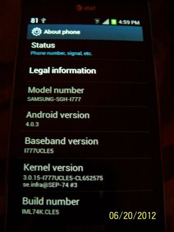 Samsung Galaxy S II on AT&amp;T gets Android 40, just Sprint left to go