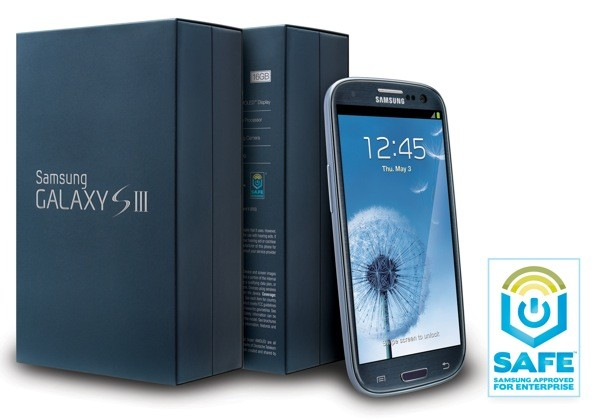 Samsung Galaxy S III gets enterprisefriendly version in the US, wears a Pebble Blue business suit