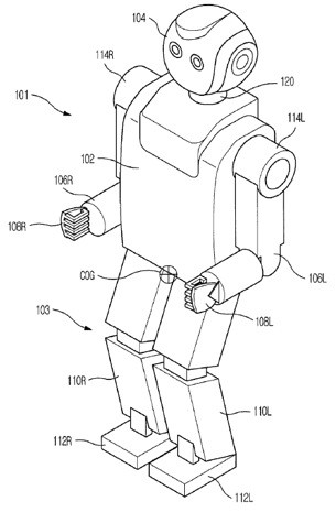 Samsung robot patent filings would mimic human walking and breathing, wouldn't eliminate the creepy factor